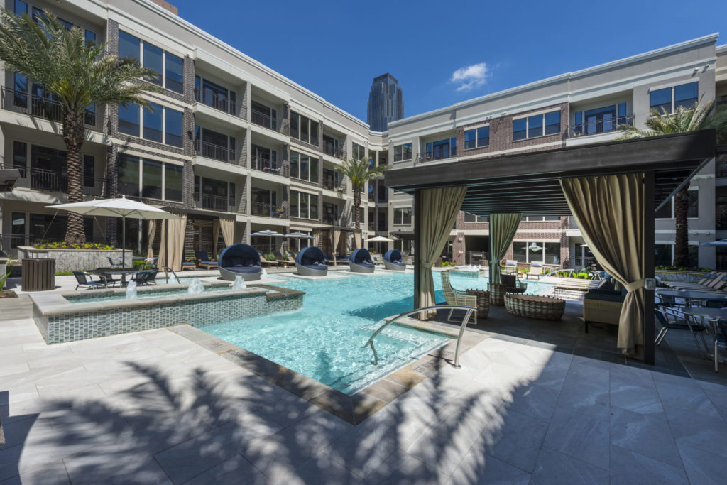 uptown district luxury apartment community amenities